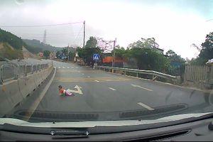 Bé bò lổm ngổm trên đường cao tốc Quảng Ninh, tài xế nói gì?