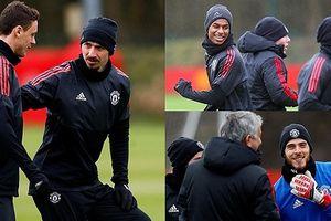 MU tập luyện trước trận gặp Sevilla: Vắng Pogba nhưng có Ibra