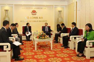 Bộ trưởng Tô Lâm tiếp Trưởng Đại diện JICA Nhật Bản tại Việt Nam