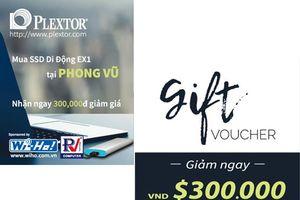 Cơ hội nhận phiếu giảm giá khi mua SSD Plextor