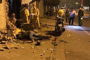 Đâm vào tường gạch nhà dân ven đường, 2 thanh niên tử vong tại chỗ