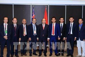 Thủ tướng Nguyễn Xuân Phúc gặp mặt các doanh nhân, trí thức người Việt tại Australia