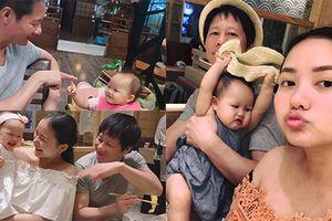 Khoảnh khắc đáng yêu của con gái Phan Như Thảo bên bố mẹ