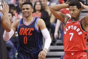 Oklahoma 132-125 Toronto: Russell Westbrook với triple-double thứ 102 càn quét bầy khủng long