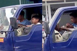 Mức phạt cho tài xế để bé trai 10 tuổi điều khiển xe tải
