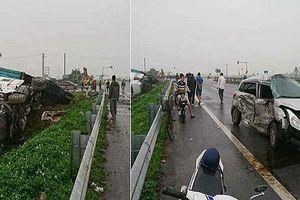Xe ô tô con và container va chạm, 1 người bị thương nặng