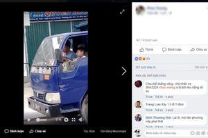 Clíp bé trai 10 tuổi lái xe tải trên đường phố