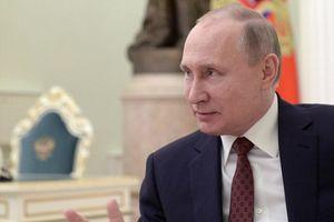 Chủ tịch nước Trần Đại Quang chúc mừng chiến thắng của Tổng thống Putin