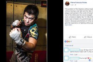 Sư huynh Flores thách đấu Từ Hiểu Đông, lấy lại thể diện cho võ thuật truyền thống?