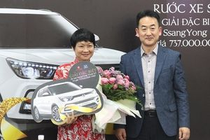 Lotte Mart trao giải xe hơi 737 triệu đồng cho khách hàng may mắn