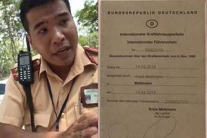 Thông tin chính xác vụ cảnh sát giao thông TP.HCM từ chối bằng lái quốc tế