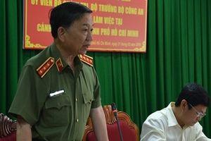 Bộ trưởng Tô Lâm làm việc với Cảnh sát PCCC TP Hồ Chí Minh