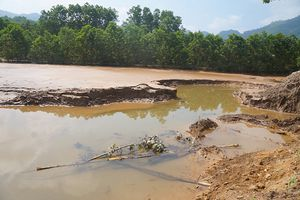 Công ty khoáng sản 6666 thừa nhận phá bờ đập thải mỏ vàng Bồng Miêu
