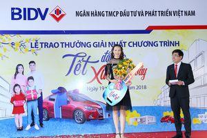 BIDV trao giải ôtô cho khách hàng trúng thưởng chương trình 'Tết đắc lộc - Xuân sum vầy'