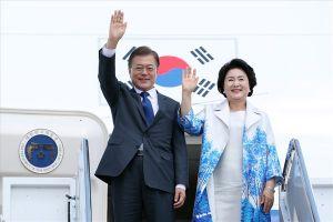Tổng thống Moon Jae-in đến Hà Nội, bắt đầu thăm cấp Nhà nước Việt Nam
