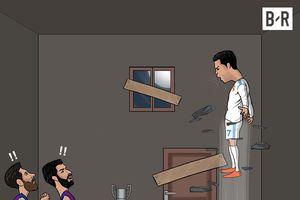 Ảnh biếm họa vui nhộn: Ronaldo trở lại mạnh mẽ trong cuộc đua giành Pichichi với Messi