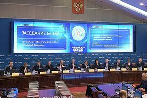 Nga công bố kết quả chính thức của cuộc bầu cử Tổng thống