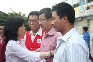 Hội Chữ thập đỏ cứu trợ khẩn cấp người dân thiệt hại trong vụ cháy