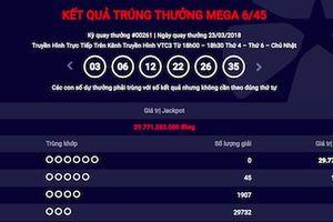 Xổ số Vietlott ngày 23/3: Chủ nhân Jackpot hơn 29 tỷ vẫn 'bặt vô âm tín'