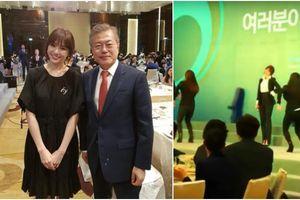 Khán giả thích thú nghe Hari Won diễn hit T-ara tại tiệc đón tiếp Tổng thống Hàn