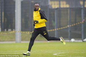 Tia chớp Usain Bolt tập luyện ở Dortmund, hiện thực giấc mơ đá bóng chuyên nghiệp