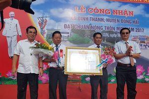 Xã Định Thành đạt chuẩn NTM năm 2017