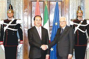 Chủ tịch nước Trần Đại Quang và Tổng thống Italy trao đổi điện mừng