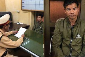 Cảnh sát giao thông Hà Nội bắt giữ đối tượng truy nã đang bỏ trố
