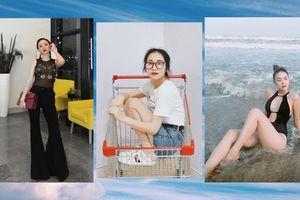 Đẳng cấp chơi sang đích thực là Hòa Minzy, mang giày gần 20 triệu đồng để ngồi vào xe đẩy chụp ảnh