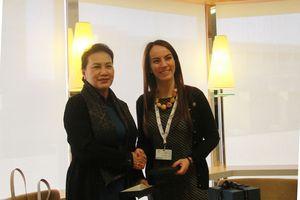 Chủ tịch Quốc hội gặp Chủ tịch Liên minh Nghị viện thế giới