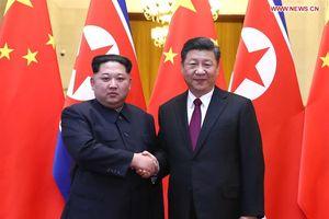 Chủ tịch Trung Quốc Tập Cận Bình hội đàm với nhà lãnh đạo Triều Tiên Kim Jong-un