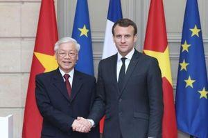 Tổng Bí thư Nguyễn Phú Trọng và Tổng thống Emmanuel Macron gặp gỡ báo chí