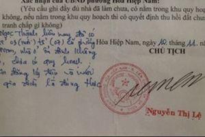 Giả chữ ký của chủ tịch phường để 'hợp thức hóa' nhà xây dựng trái phép