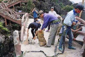 Bắt đầu tháo dỡ công trình vi phạm tại Tràng An