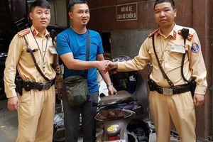Đại úy CSGT Hà Nội bắt nóng tên trộm bẻ khóa xe SH trong 5 giây