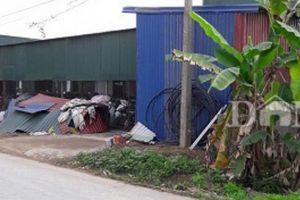 Hải Phòng: Xưởng sản xuất giầy không phép ngang nhiên hoạt động