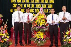 Thêm hai xã đạt chuẩn nông thôn mới ở Bắc Giang