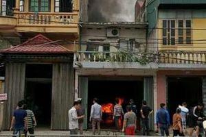 Cháy ga ra ở Thái Bình, 1 xe ô tô bị thiêu rụi