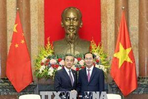Chủ tịch nước Trần Đại Quang, Thủ tướng Nguyễn Xuân Phúc tiếp Bộ trưởng Ngoại giao Trung Quốc Vương Nghị