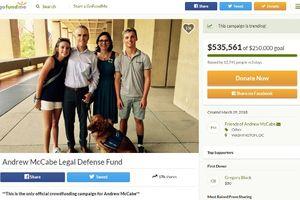 Cựu Phó Giám đốc FBI gây quỹ hỗ trợ pháp lý