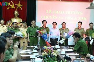 Thưởng nóng 2 Ban chuyên án cùng 1 ngày bắt 2 vụ ma túy tại Nghệ An