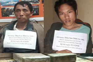 Bắt 2 đối tượng người Lào vận chuyển 2 bánh heroin, 18.000 viên ma túy tổng hợp