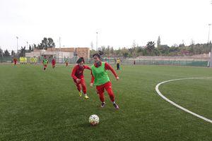 Tuyển bóng đá nữ Việt Nam tập buổi tập đầu tiên tại Amman - Jordan