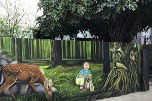 Làng chài Cảnh Dương sống động sắc màu với dự án 'Bích họa tương lai'