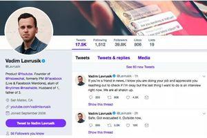 Sếp YouTube bị hack Twitter ngay sau vụ nổ súng