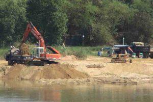 Bình Định: Khai thác cát ồ ạt trên sông Lại Giang, huyện Hoài Nhơn