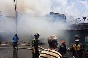 Cháy lớn ở thành phố Mỹ Tho, 7 căn nhà bị thiêu rụi