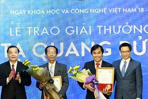 Giải thưởng Tạ Quang Bửu 2018: Đề nghị xét tặng cho 9 nhà khoa học xuất sắc