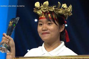 Nữ sinh hát 'Em gái mưa' thắng tuyệt đối tại cuộc thi tuần Olympia
