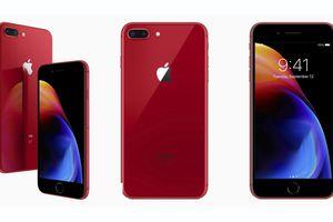 Apple chính thức ra mắt iPhone 8 và 8 Plus đỏ: Mặt trước là màu đen, giá từ 699 USD